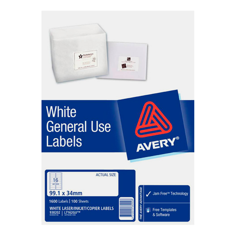 Avery L7162gu General Use Labels 938202 3795 Mp Office Plus
